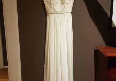 White Wedding Formal Gown by George sz 8