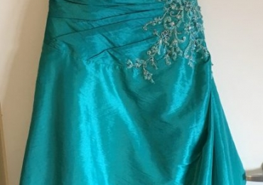 Teal Bridal Chic Gown