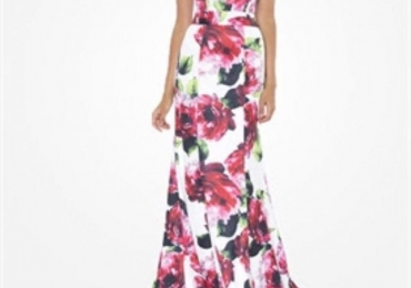 Bariano Floral Ball Gown